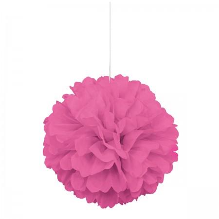 Hot Pink Puff Decor (1)