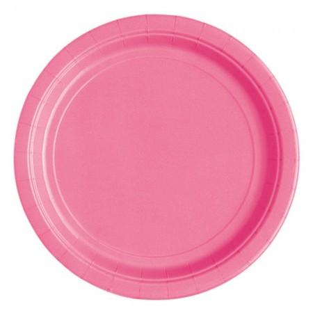 Hot Pink Round Dessert Plates (20)
