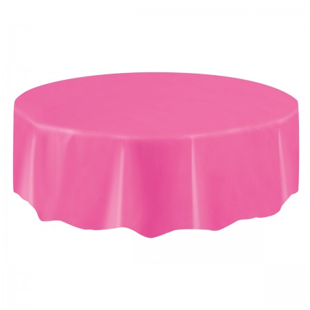 Hot Pink Round Table Cover (1)