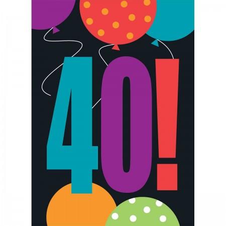 40th Milestone Birthday Invitations (8)