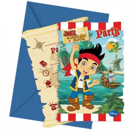 Jake Yo Ho Die-cut Invitations & Envelopes (6)