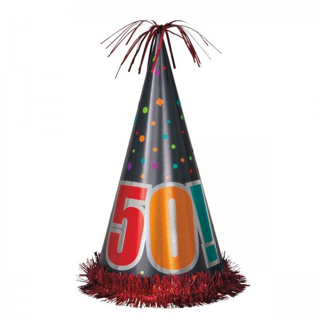 50th Milestone Birthday Jumbo Cone Hat (1)