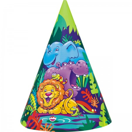 Jungle Safari Party Hats (8)