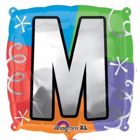 """18"""" Letter M Quad Foil Balloon (1)"""