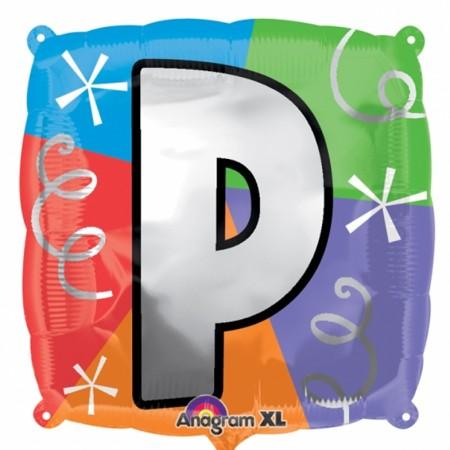 """18"""" Letter P Quad Foil Balloon (1)"""