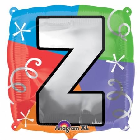 """18"""" Letter Z Quad Foil Balloon (1)"""