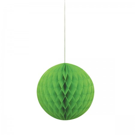 "Lime Green Honeycomb Ball 8"" (1)"
