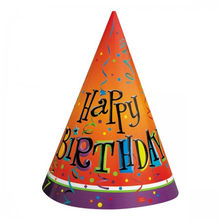 Lively Birthday Party Cone Hats (8)