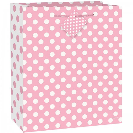 Lovely Pink Dot Large Giftbag (1)