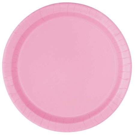 Lovely Pink Round Lunch Plates (16)