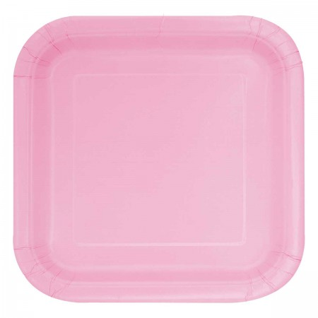 Lovely Pink Square Lunch Plates (14)