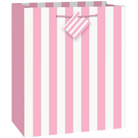Lovely Pink Stripe Large Giftbag (1)