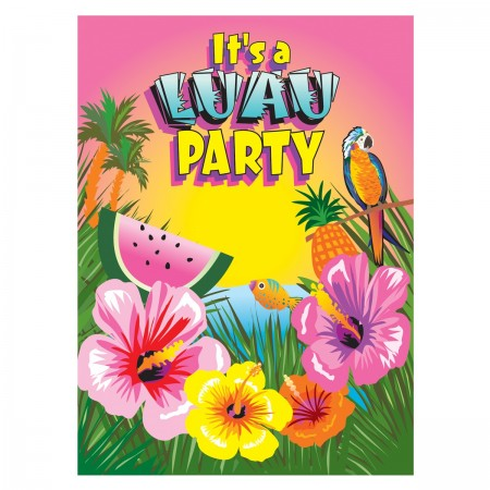 Luau Invitations (8)