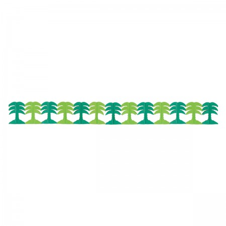Luau Palm Tree Honeycomb Garland (1)