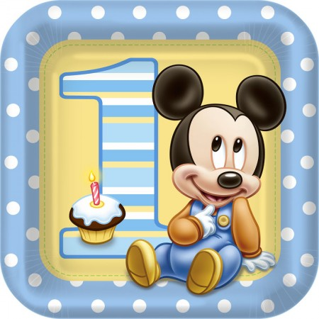 Mickey Mouse First Birthday Lunch Plates (8)