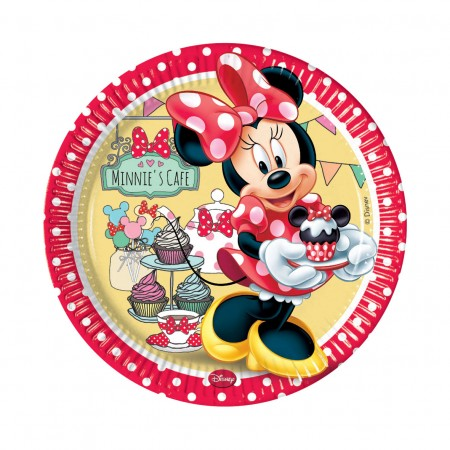 Minnie Cafe Lunch Paper Plates (8)