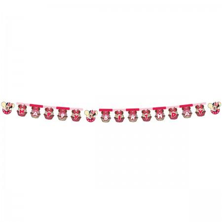 """Minnie Café """"Happy Birthday"""" Die-cut Banner (1)"""