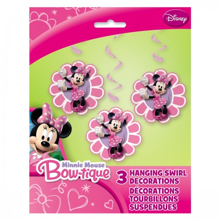 Minnie Mouse Hanging Swirl Decorations (3)