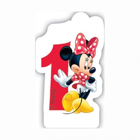Disney Minnie Mouse Birthday Number 1 Candle