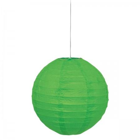 "Lime Green Round Lantern 10"" (1)"