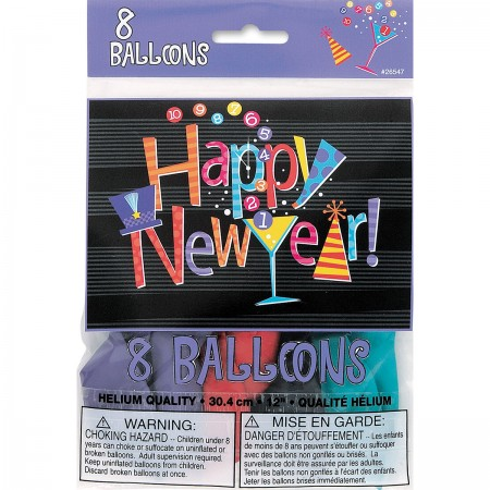 New Year Countdown Printed One Side Balloons