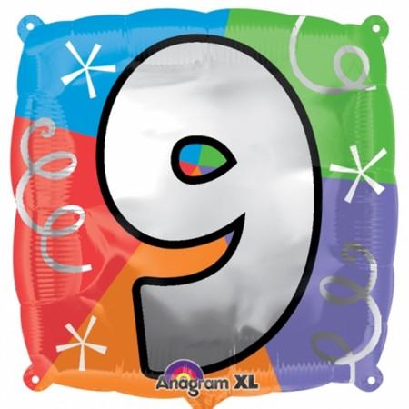 """18"""" Number 9 Quad Foil - Package (1)"""