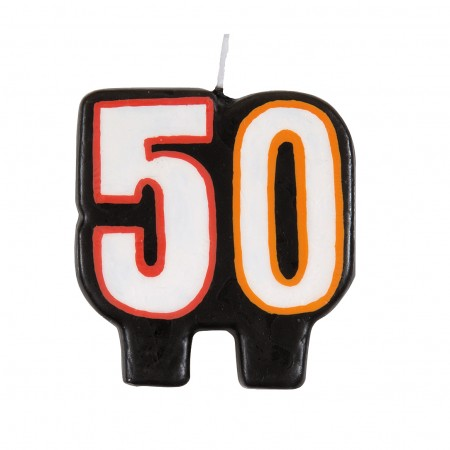50th Milestone Birthday Numeral Candle (1)