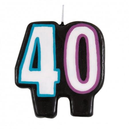 40th Milestone Birthday Numeral Candle (1)