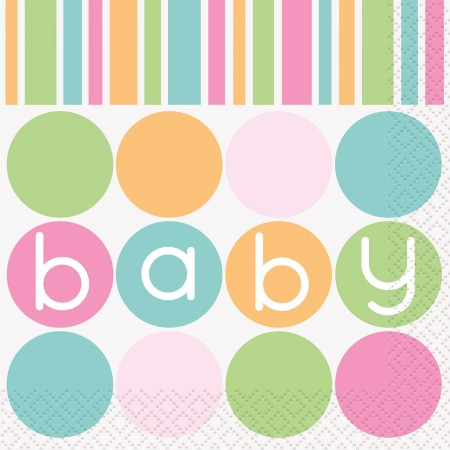 Pastel Baby Shower Beverage Napkins (16)