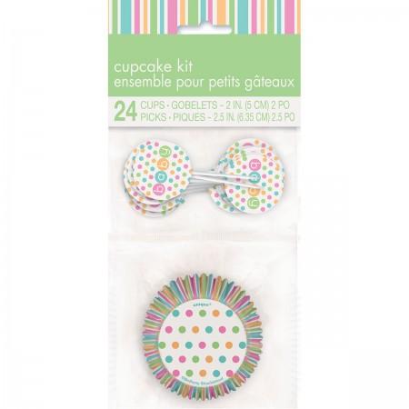 Pastel Baby Shower Cupcake Kit (24)