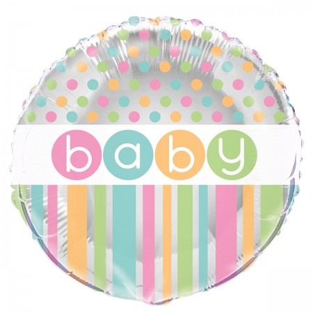 "Black Pastel Baby Shower Foil Balloon 18"" (1)"