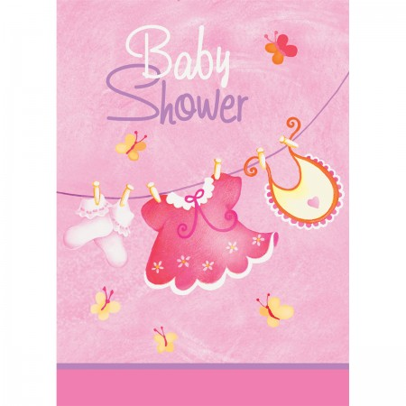 Pink Clothesline Baby Shower Invitations (8)