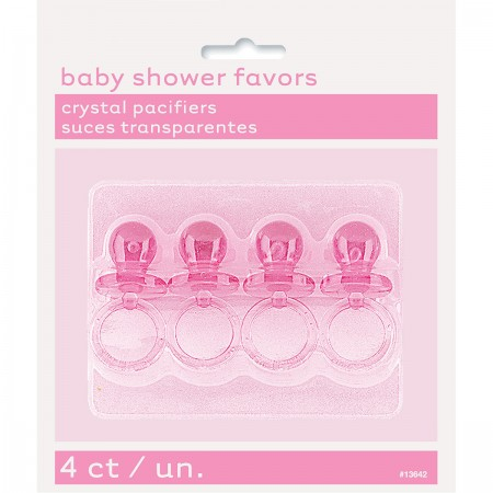 Pink Crystal Pacifiers 2'' (4)