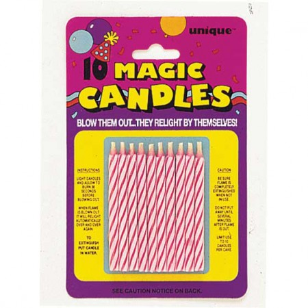 Magic Pink Birthday Candle (10)