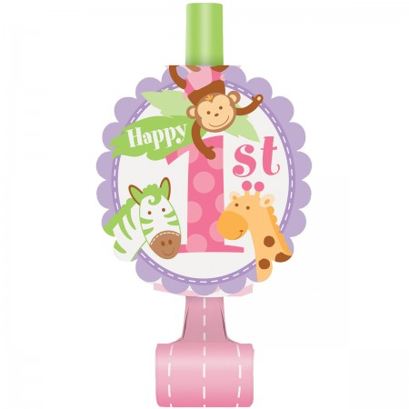 Pink Safari First Birthday Blowouts (8)