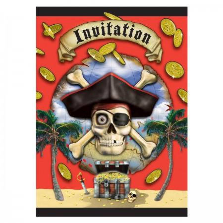 Pirate Bounty Invitations (8)