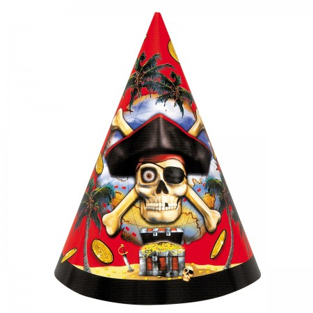 Pirate Bounty Party Hats (8)