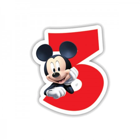 Mickey Mouse Birthday Number 3 Candle 1