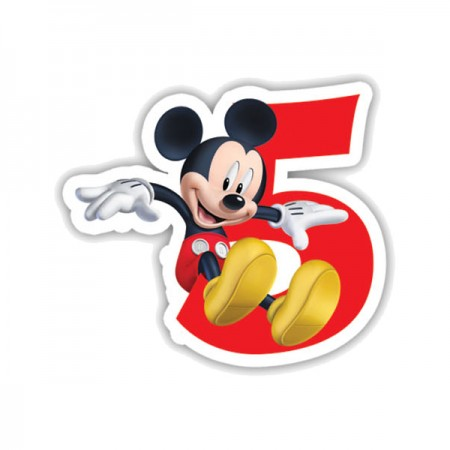 Mickey Mouse Birthday Number 5 Candle (1)