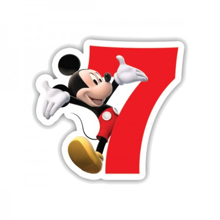 Mickey Mouse Birthday Number 7 Candle (1)