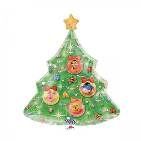 """31"""" Pooh Xmas Tree Shape Balloon (1)"""