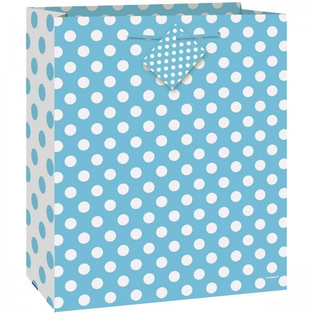 Powder Blue Dots Large Giftbag (1)