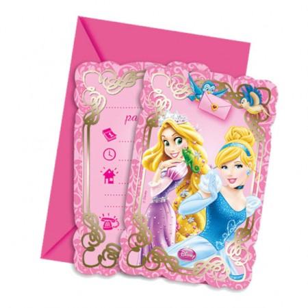Princess & Animals Die-cut Invitations & Envelopes (6)