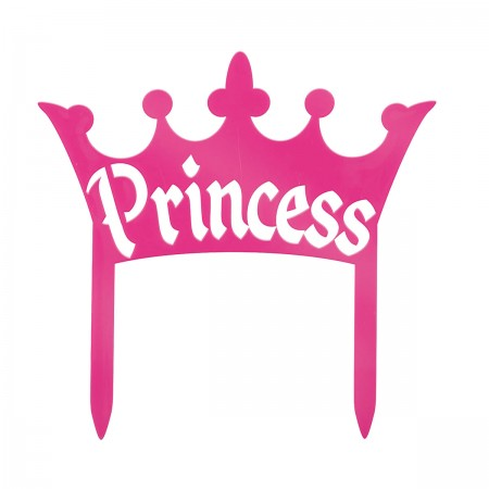 Princess Crown Plastic Cake Top (1)