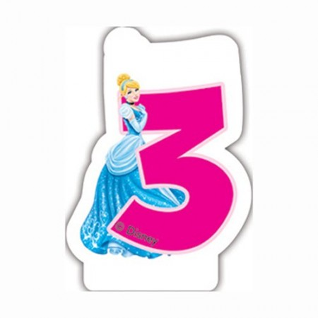 Disney Princess Birthday Number 3 Candle 1