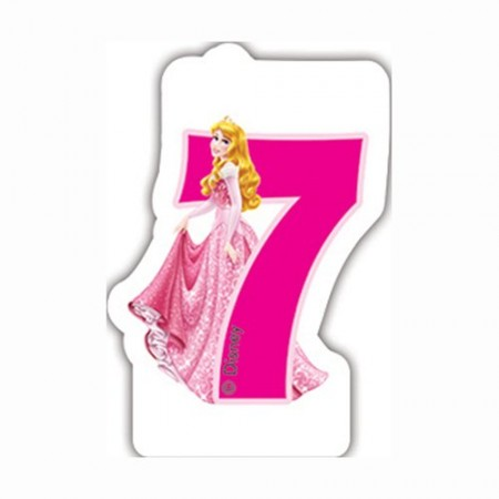 Disney Princess Birthday Number 7 Candle (1)