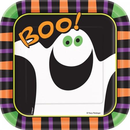 Pumpkin Boo Square Plates (10)