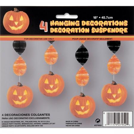 "Pumpkin Glow Hanging Swirls18"" (4)"
