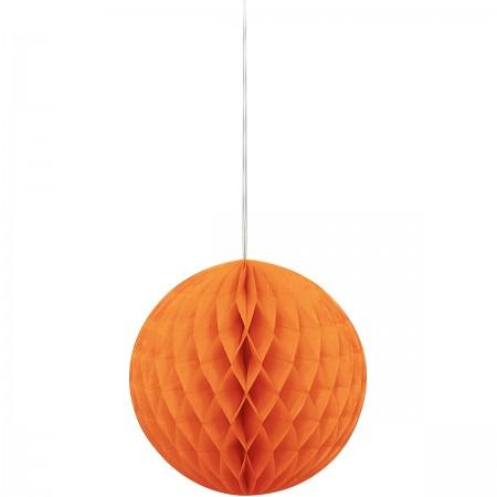 "Pumpkin Orange Honeycomb Ball 8"" (1)"
