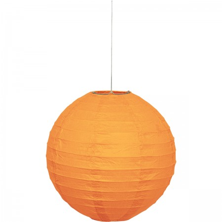 "Pumpkin Orange Round Lantern 10"" (1)"